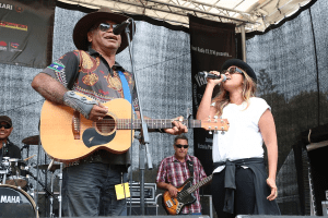 Australian Singers Warren H. Williams and Jessica Mauboy